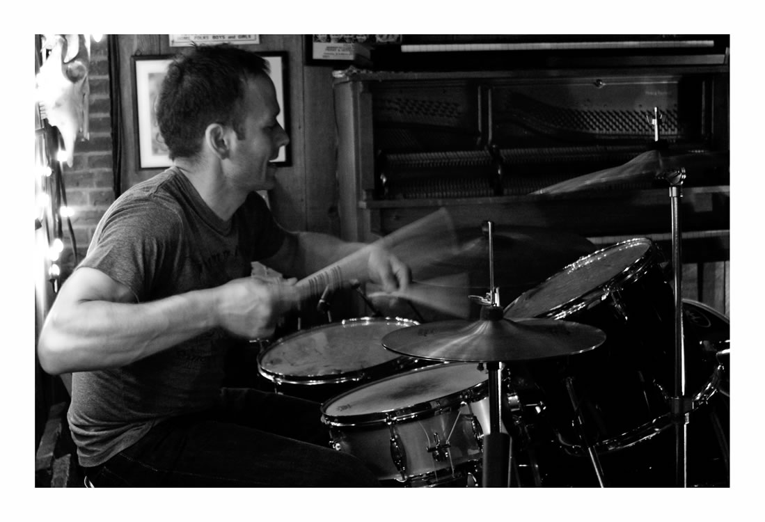 "Anastasios ""Ernie Legend"" Basiliadis on the drums, Dakota Tavern, Toronto ON (Michelle Harris)"