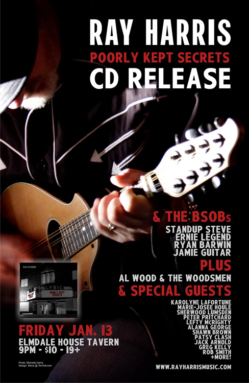 Poster for second CD release (Michelle Harris, design Steve @ TenVolt)